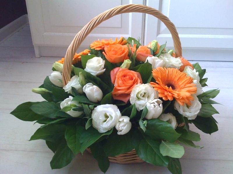 Корзинки для живых цветов своими руками 3